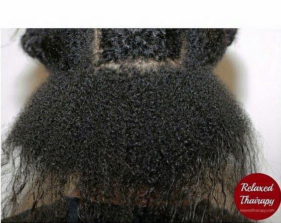 Cheveux défrisés en transition