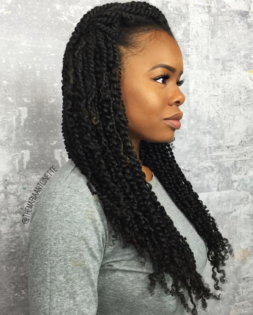 Mini twists longs - cheveux afros