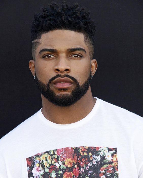 black man afro hair cut