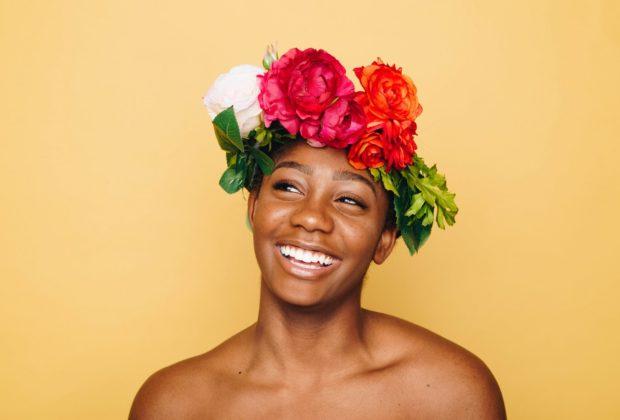 Afro woman skin