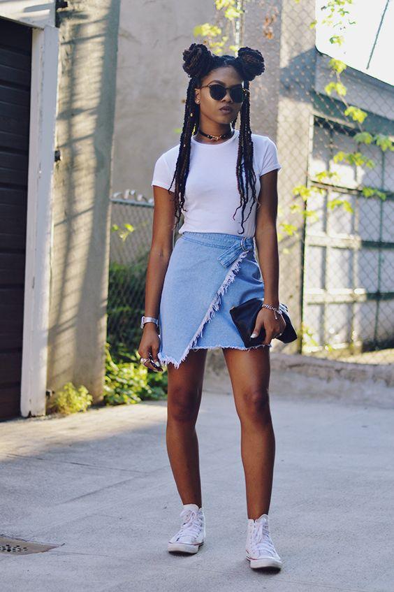 Black woman converse all stars femme noire sneakers baskets