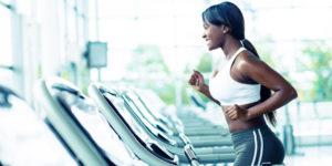 sport workout cardio blak woman workout
