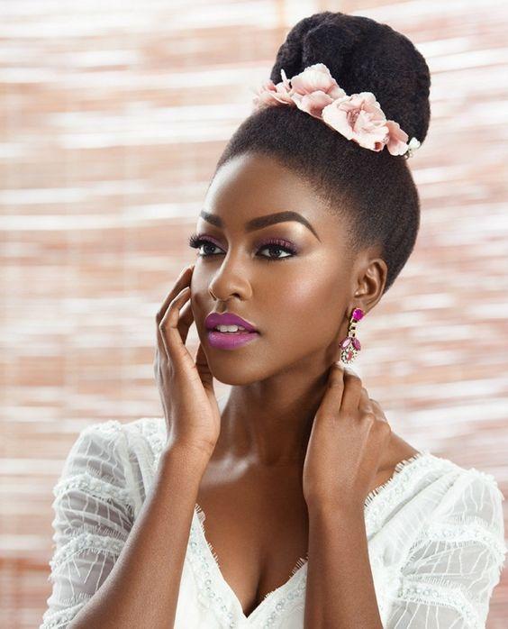 Black bride femme noire mariée make up