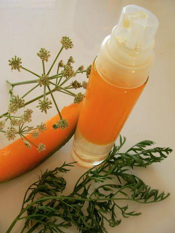 Lotion à base d'huile de carotte