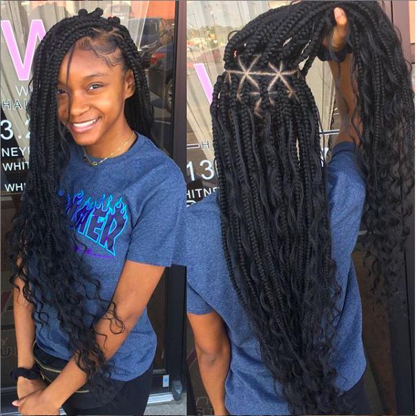 Les Goddess Box Braids Une Nouvelle Facon De Porter Ses Braids Ma Coiffeuse Afro
